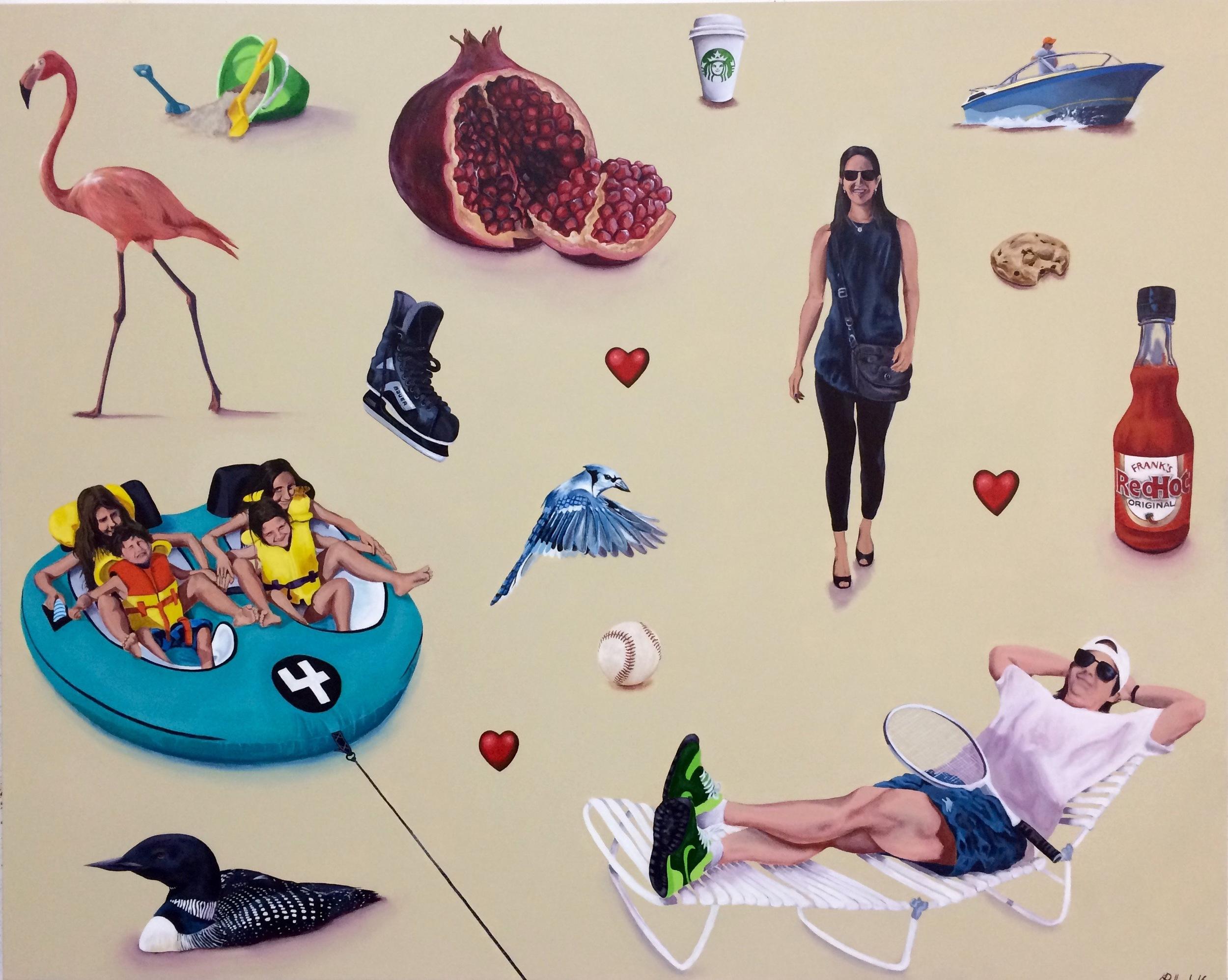"Sieradzki Commission    acrylic on canvas  48"" x 60"""