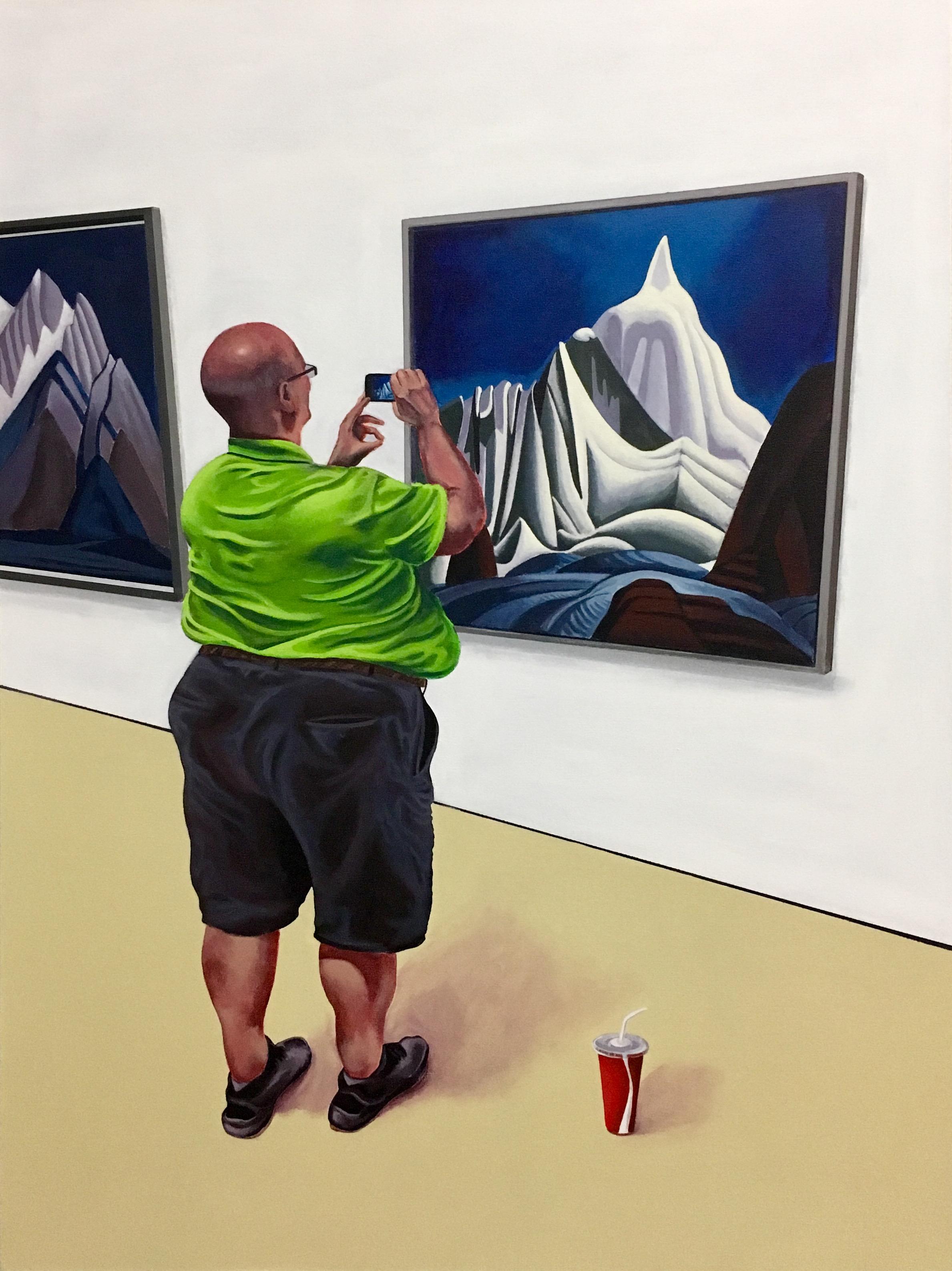 "The Visual Consumer   acrylic on canvas  40"" x 30"""