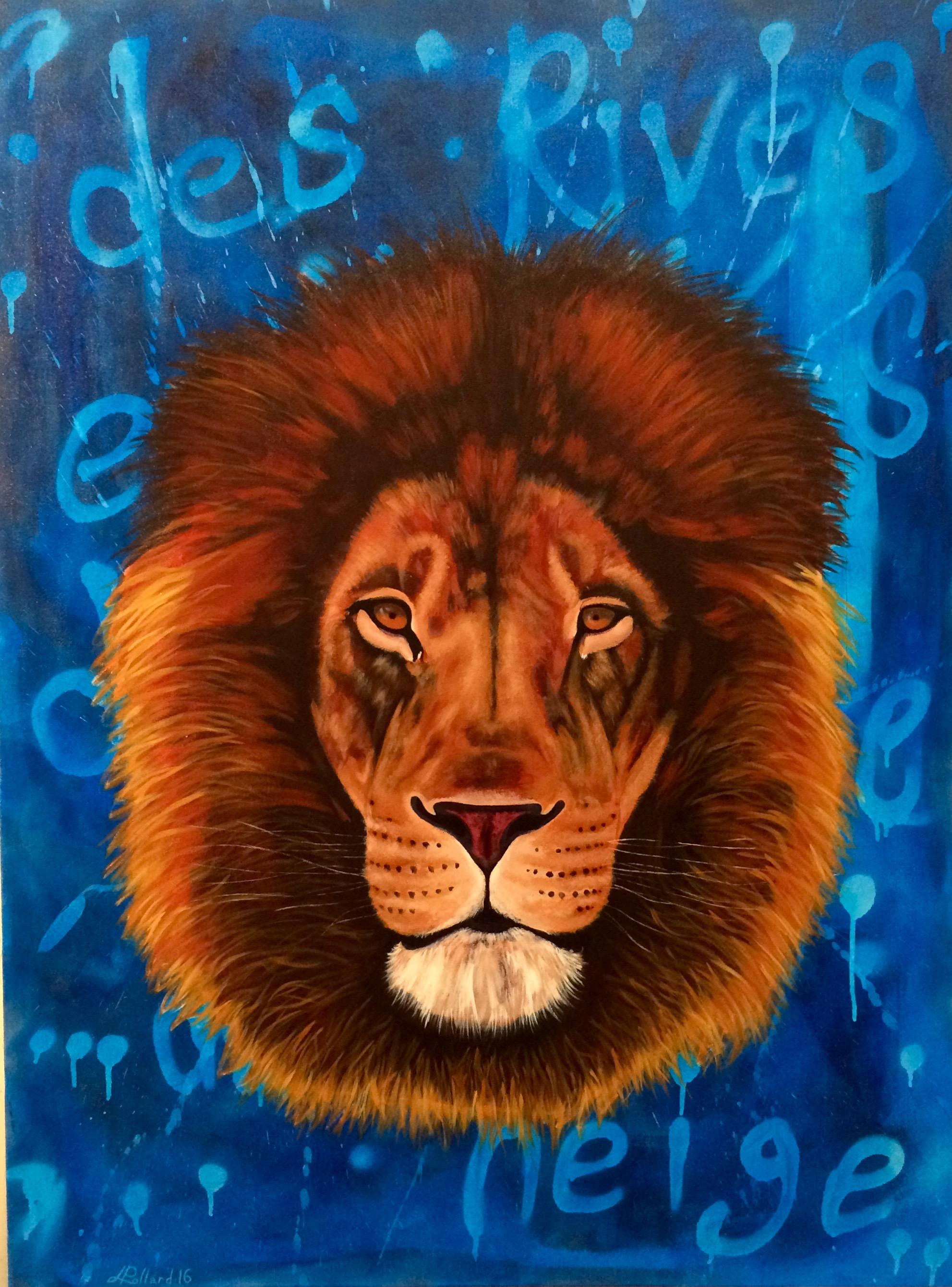 "TK Commission   acrylic on canvas  48"" x 36"""