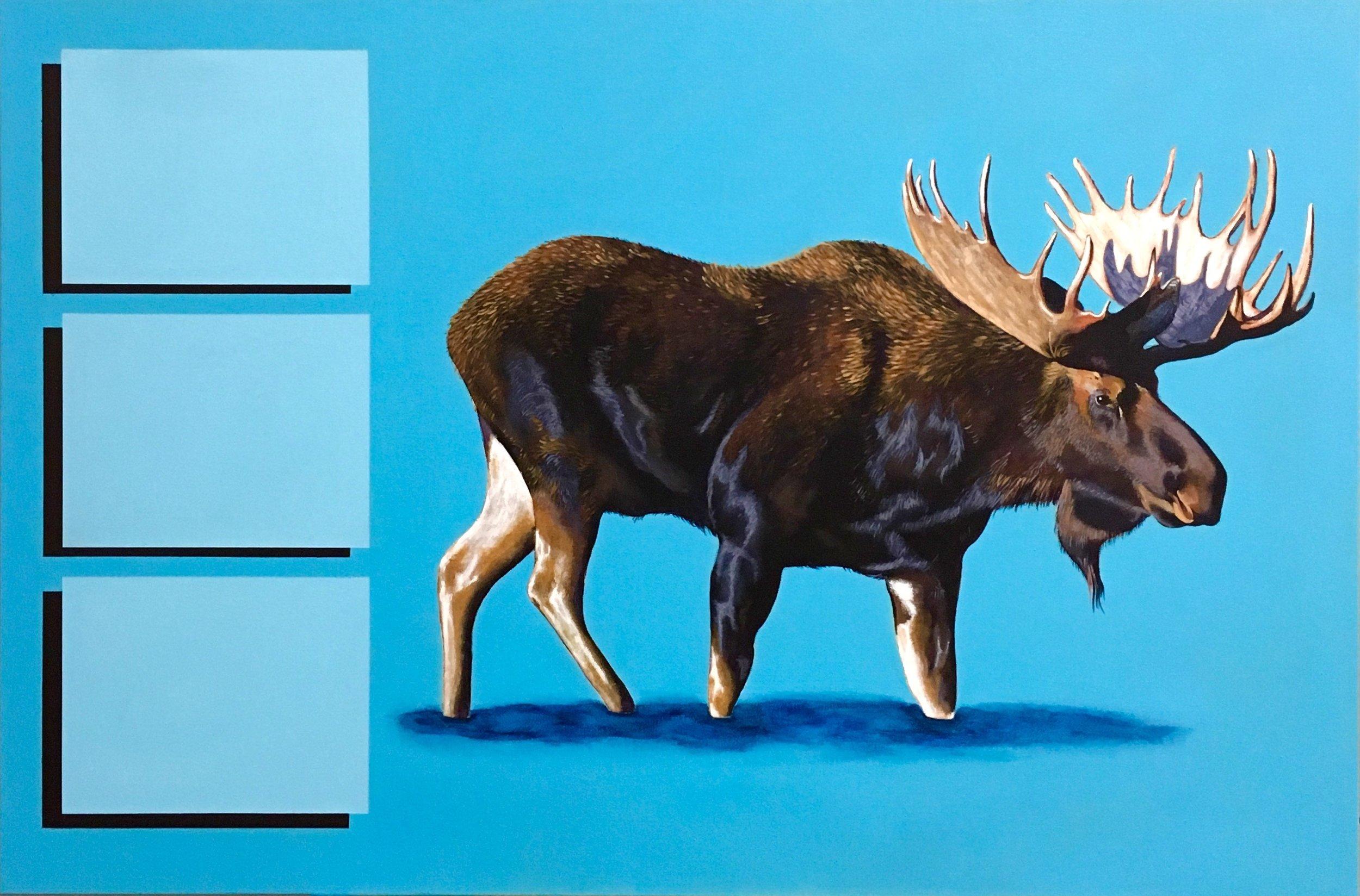 """A common nuisance     acrylic on canvas    28"""" x 36"""""""