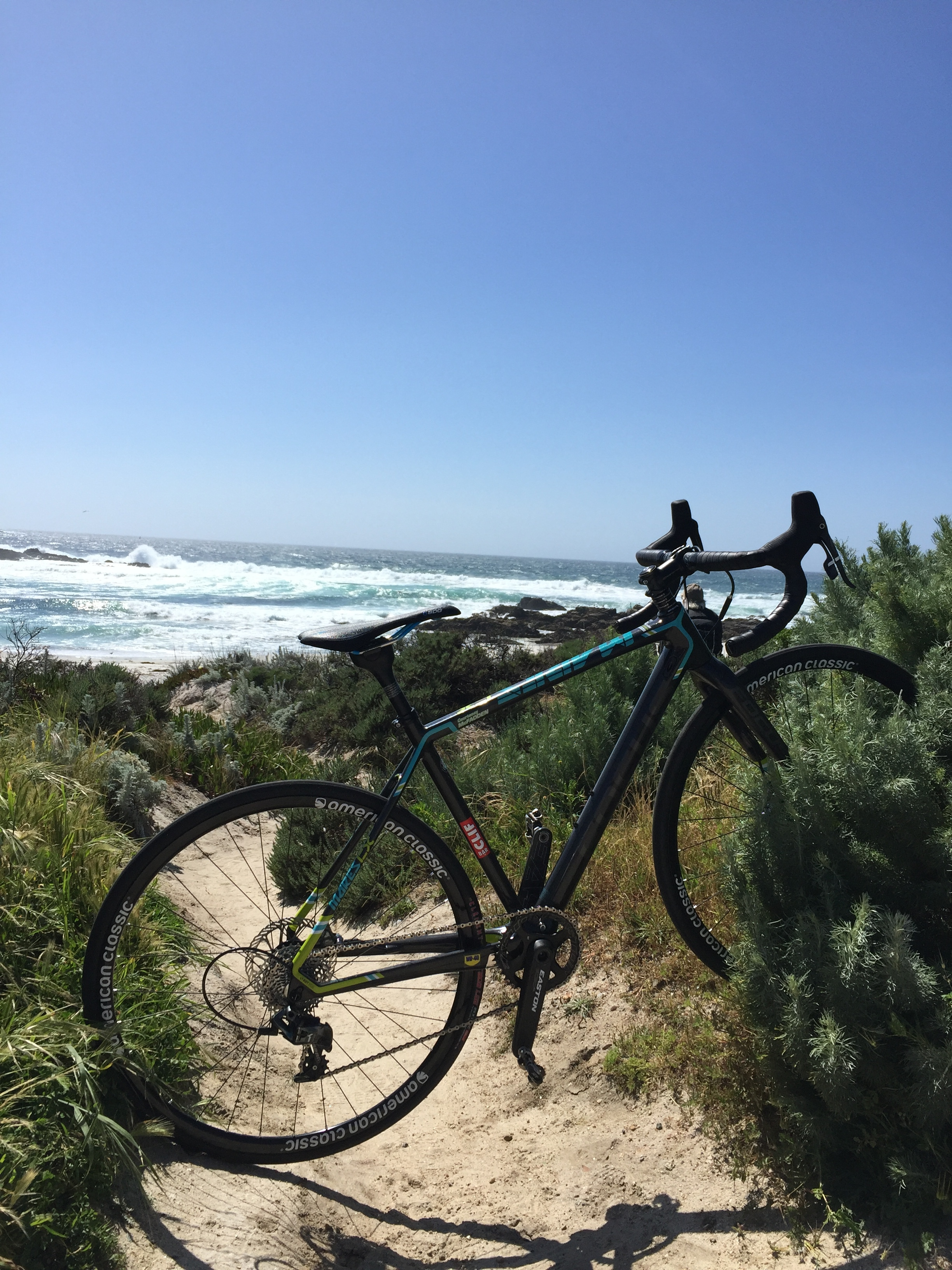 I spent 4 days in Monterey at Sea Otter connecting with sponsors and friends.  It was a great test for the hip to see what it could handle.  The hip did better than I anticipated, but the trip was 1 day too long for the hip.