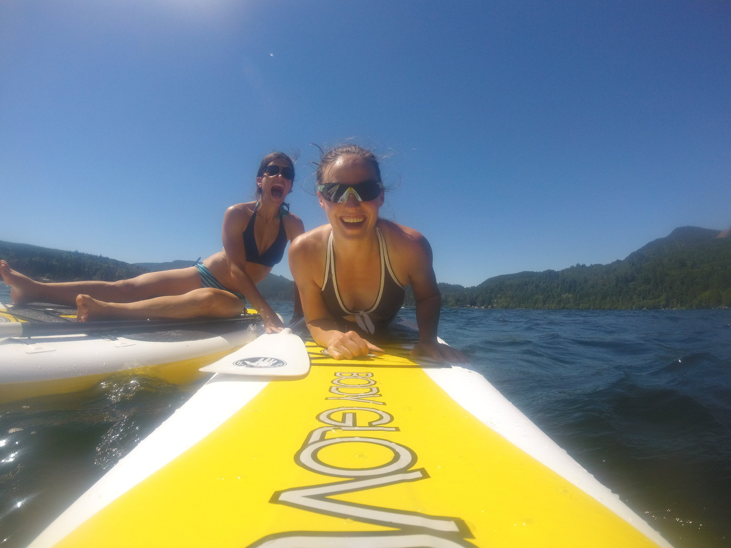 I've been getting out and enjoying my paddle board!