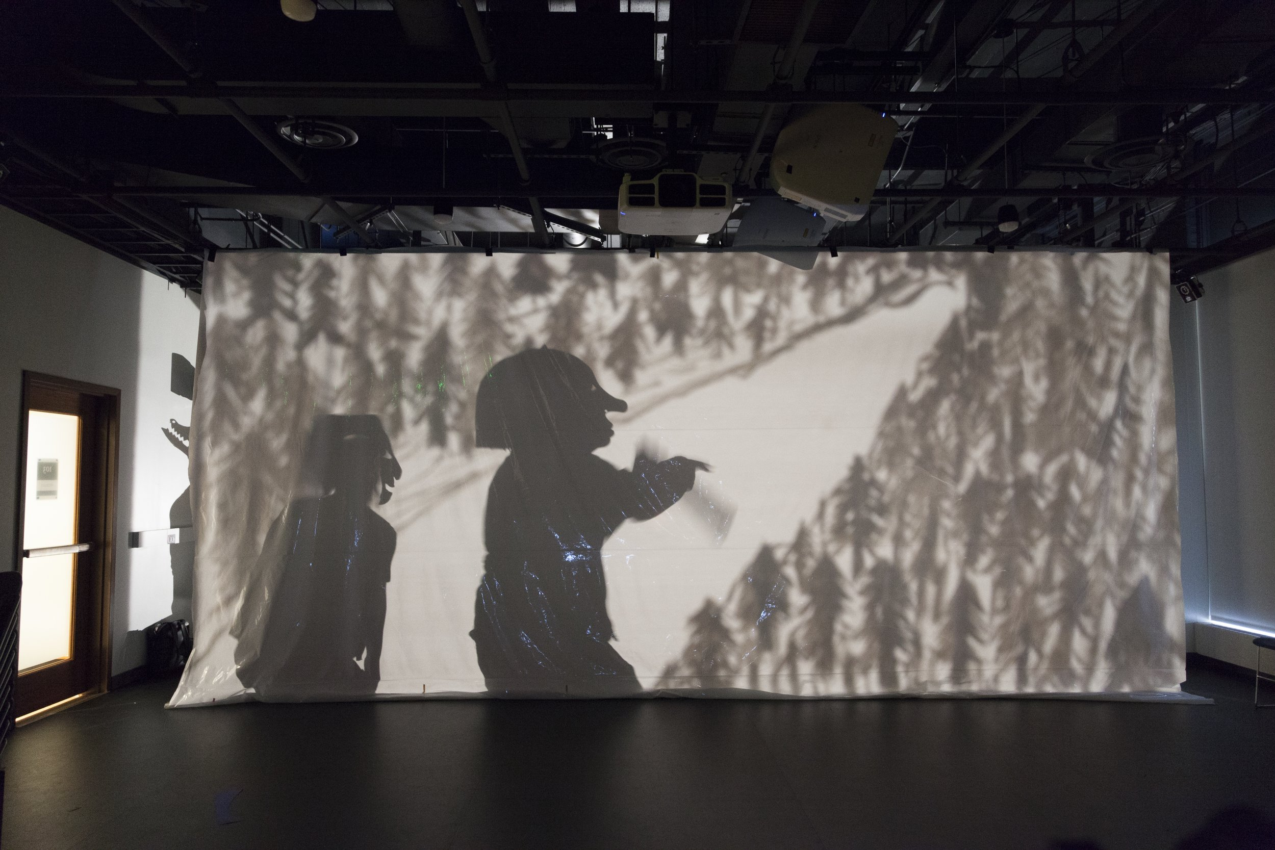 Shadow Light - Wayang shadow puppet workshop in collaboration with the Yale School of Drama Projection Design program and the Center for Collaborative Arts and Media, Fall 2017.