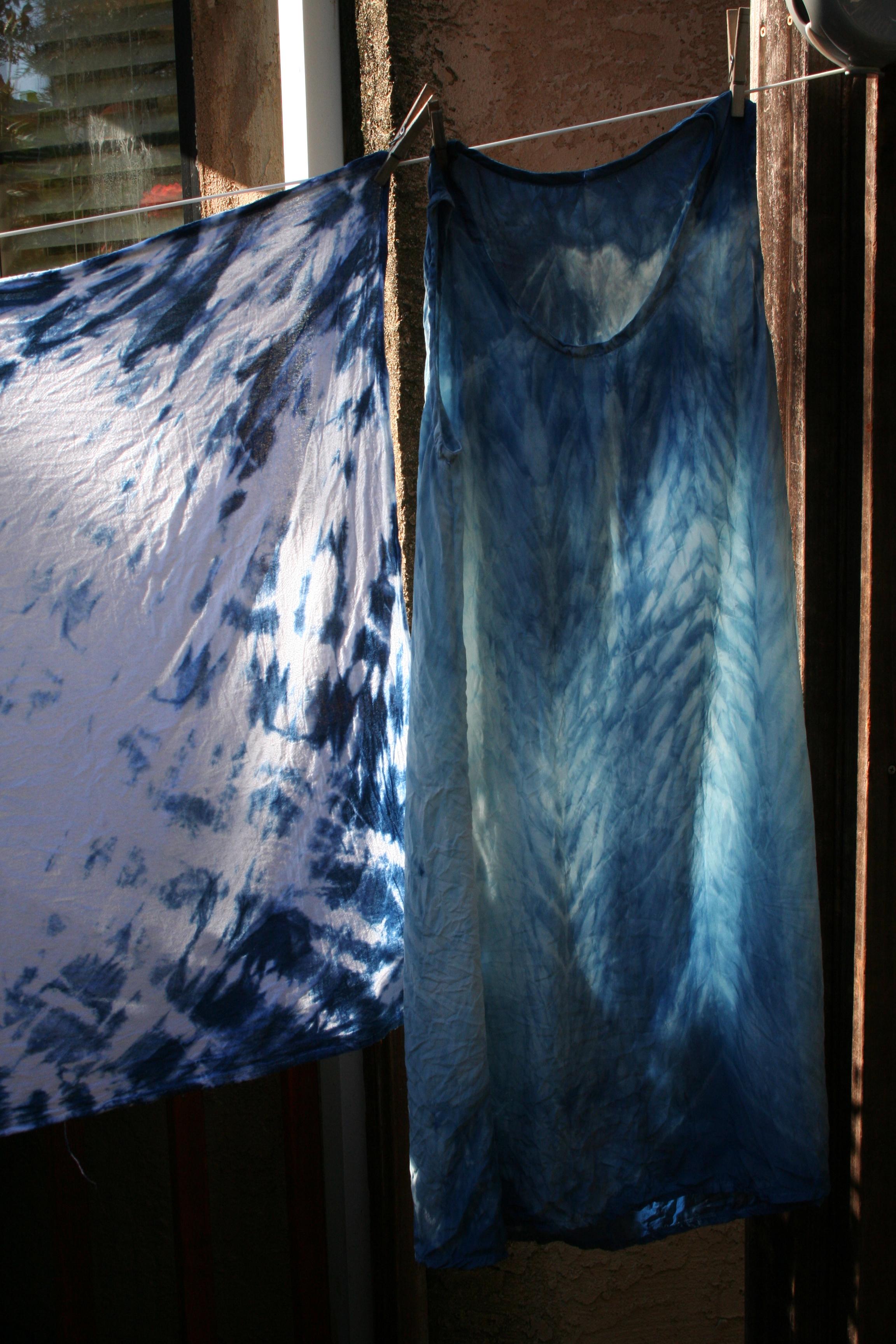 shibori silk dress