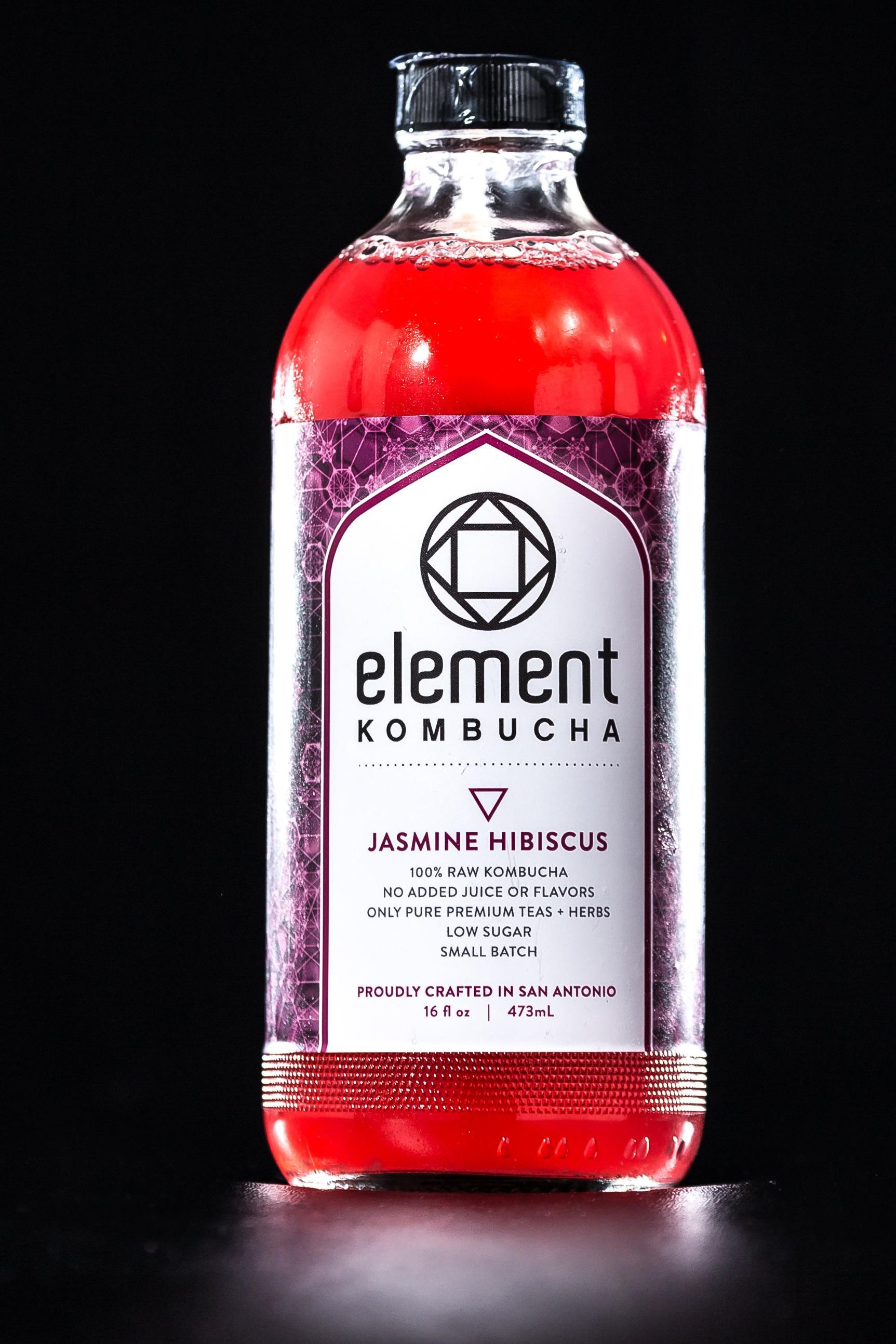 Element Kombucha Jasmine Hibiscus