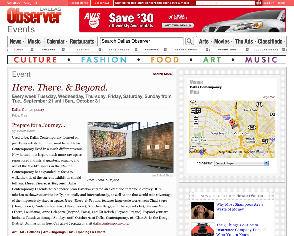Dallas Observer Screenshot