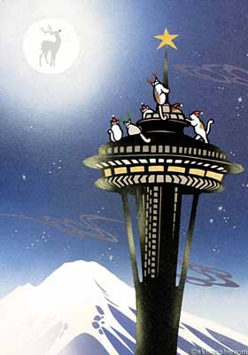 Cats on Space Needle