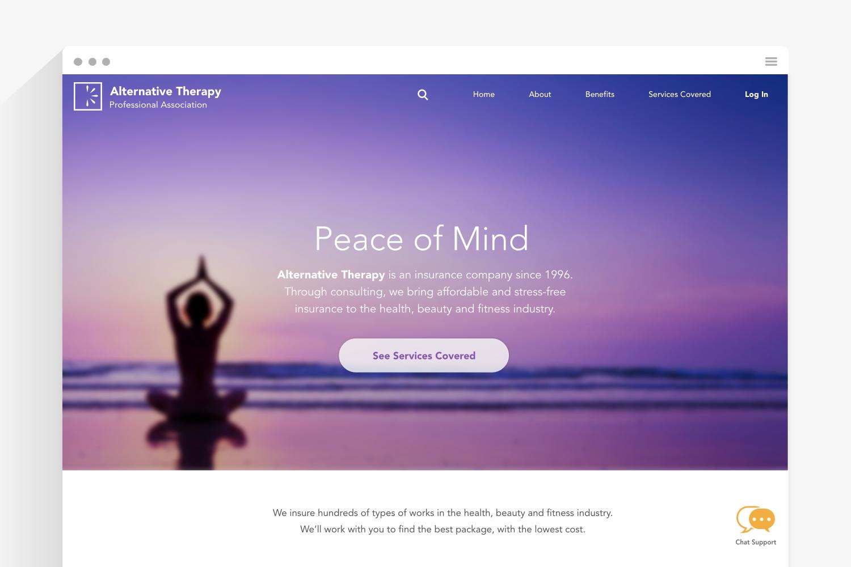 Alternative Therapy — UX+UI Design