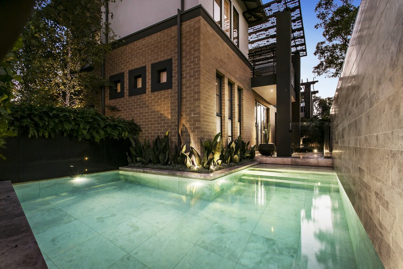 Landscaping Design and construction for Pool areas. Paving, plants, garden lighting. Willamstown