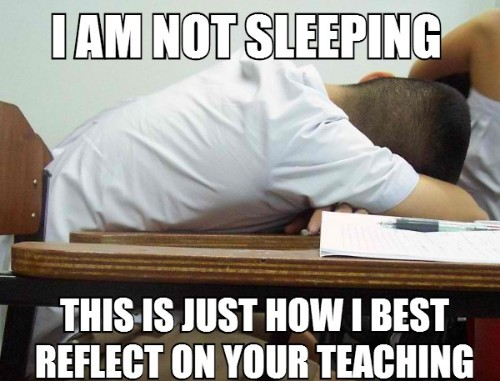not attending lectures