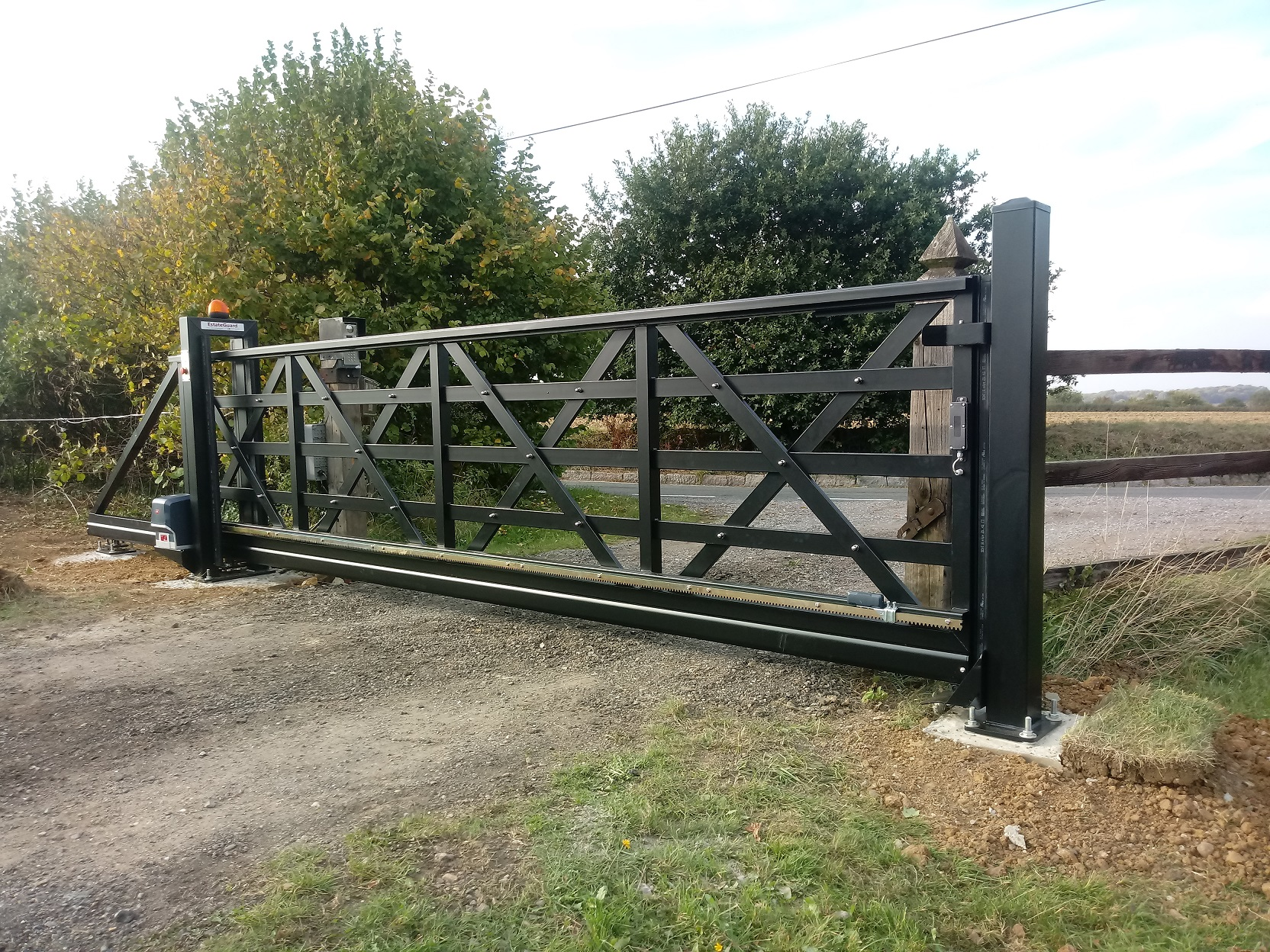 4.5 metre 1.3m high sliding gate Newport Essex.jpg
