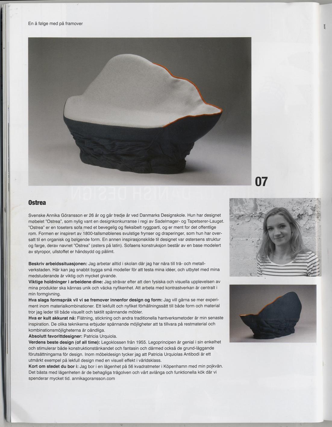Article in Norwegian magazine  Nytt Rom.