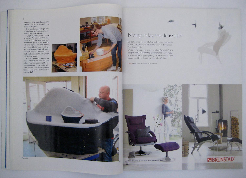 Article in Swedish magazine  Disajn.