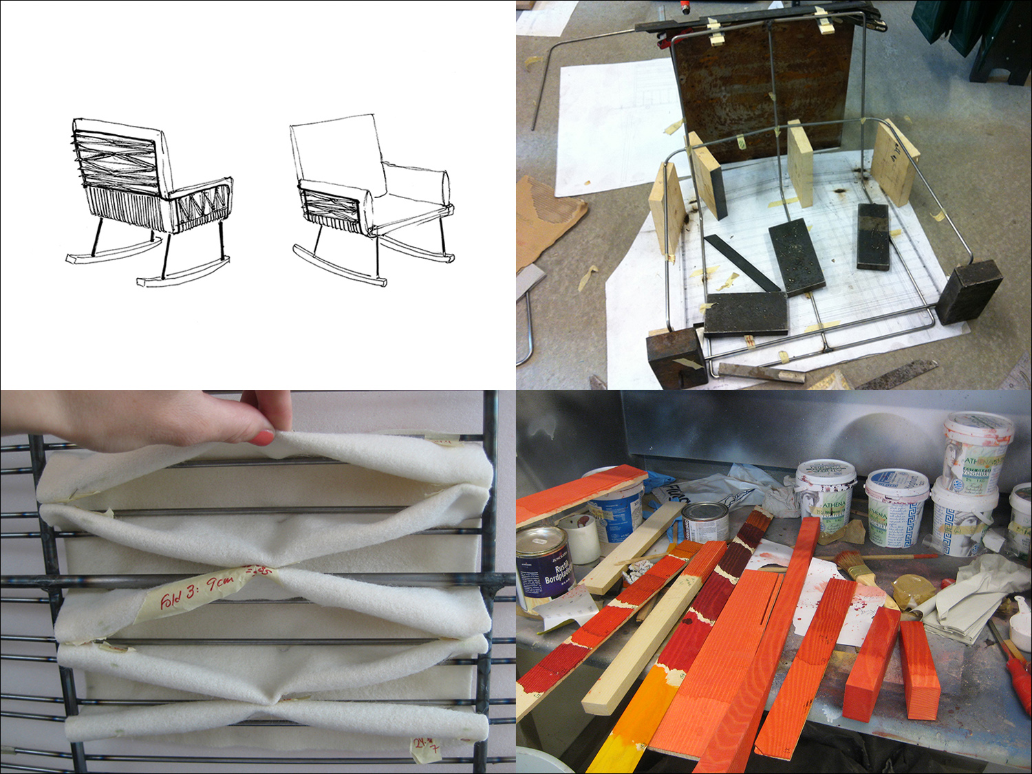 The work process of  Push Rocking Chair.
