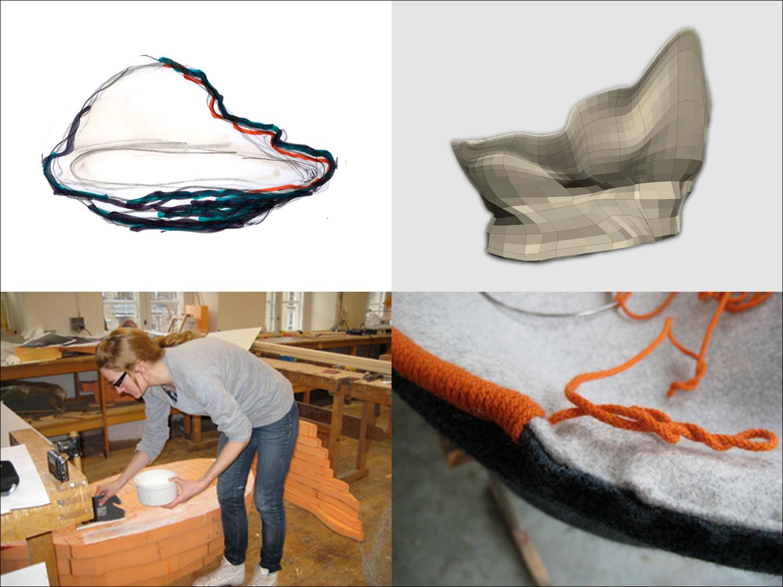 The work process of  Ostrea Sofa.