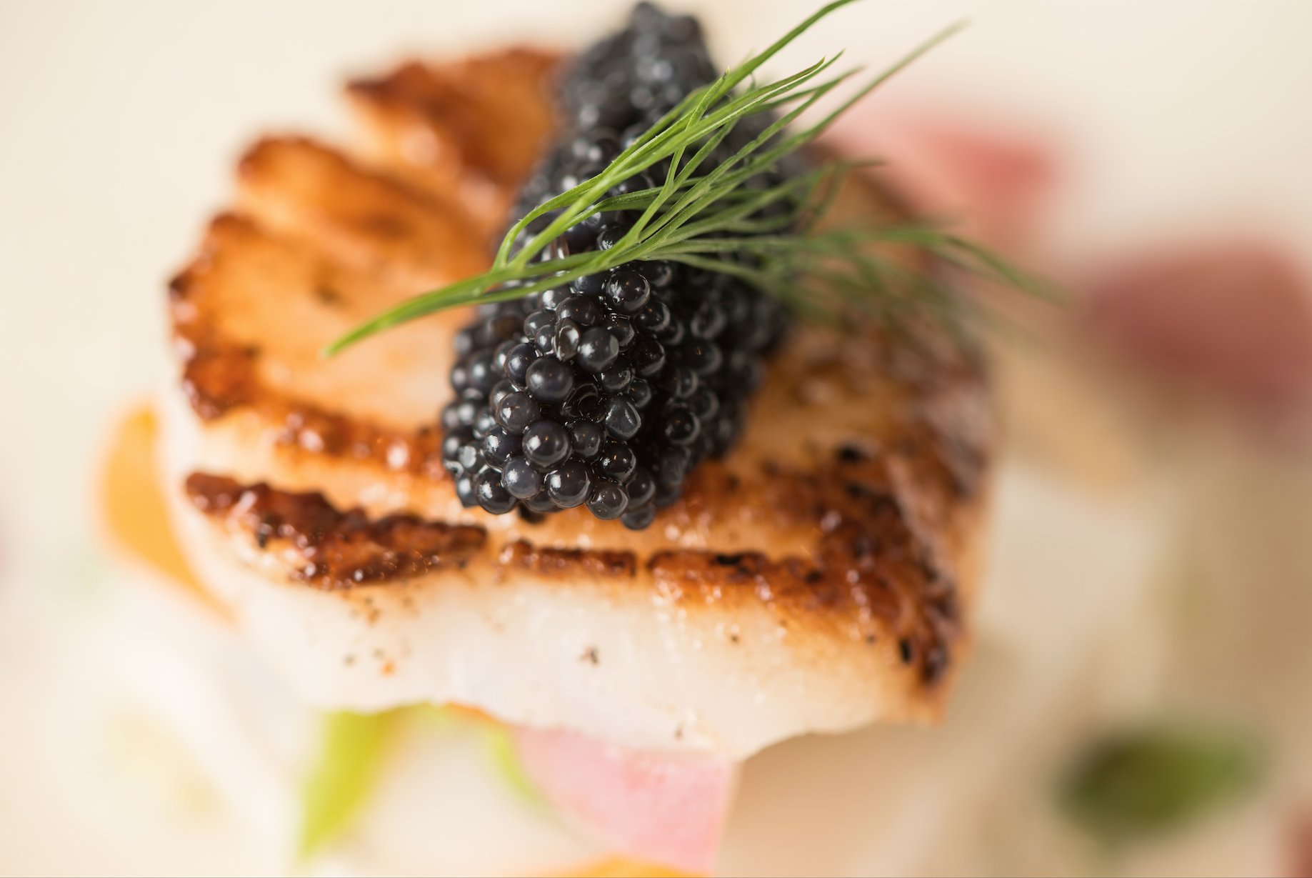 scallops and caviar
