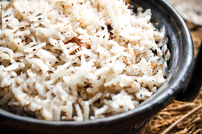 coconut brown basmati rice