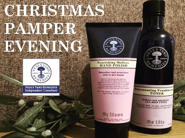 Wilmslow Christmas Pamper Evening 🥂🛍🥂🛍🥂 Thursday 29th November 6pm Rise Cafe Water Lane, Wilmslow.  Join your local Neals Yard independent consultant for a special pamper evening with demonstrations, prosecco, massages & festive fun!  Tickets only £5 each - includes welcome Drink & Goodie Bag!  RSVP Steph 07772590984  Limited Availability! • • • #wilmslow #localevent #nealsyard #nealsyardremedies #nyr #waterlane #christmas #pampernight #cheshire #alderleyedge #prestbury #bramhall #Hale #wellness #massage #ChristmasShopping #Spa #Prosecco