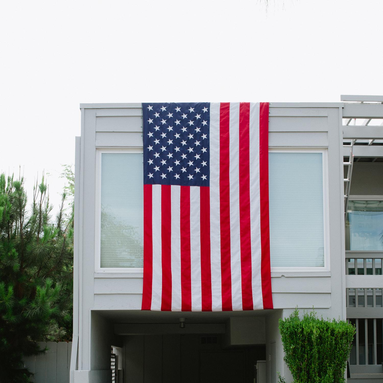 American Flag, San Diego, 2014