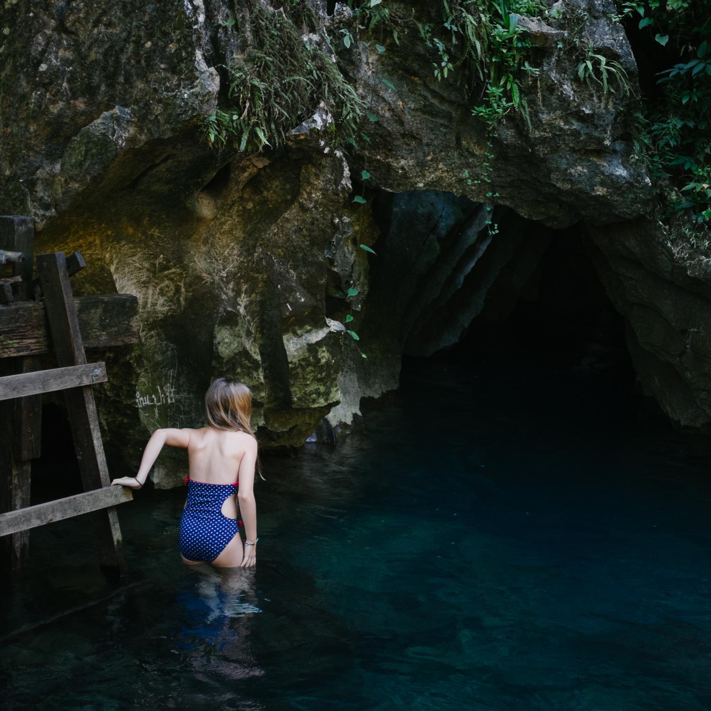 Cave Swim, Laos, 2014