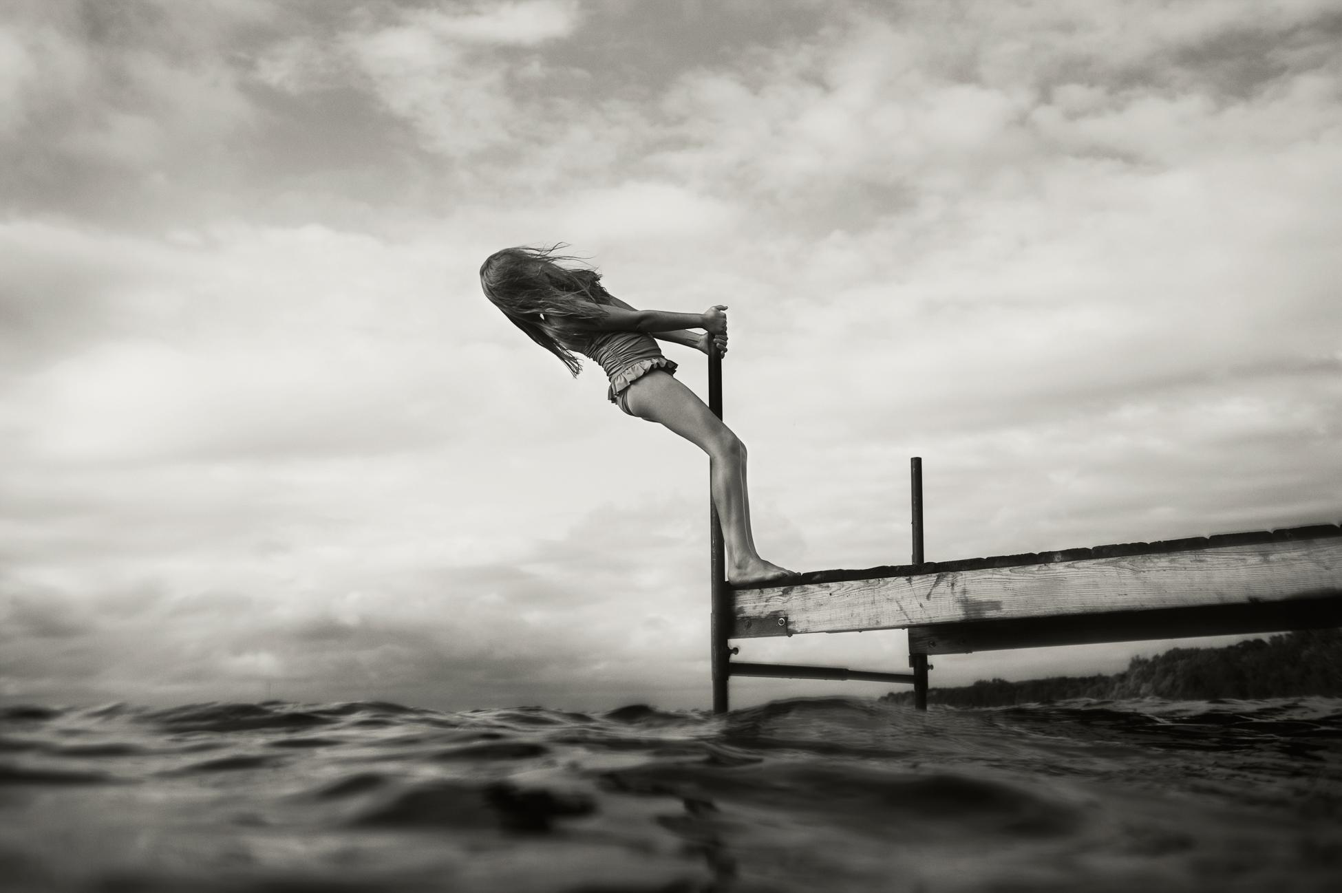 Leaning on Dock, Battle Lake, 2013
