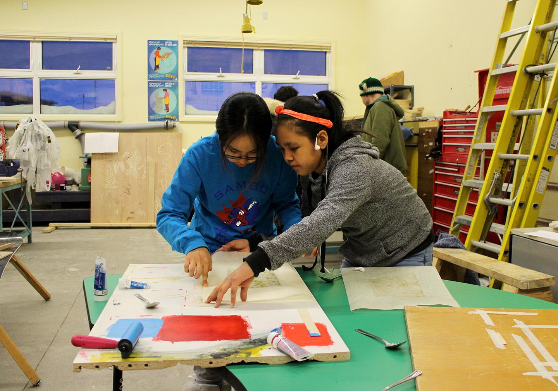 Working together: Ruth and Meeka