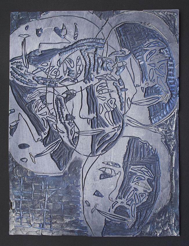 Saaki Nuna  Linoleum Block Matrix