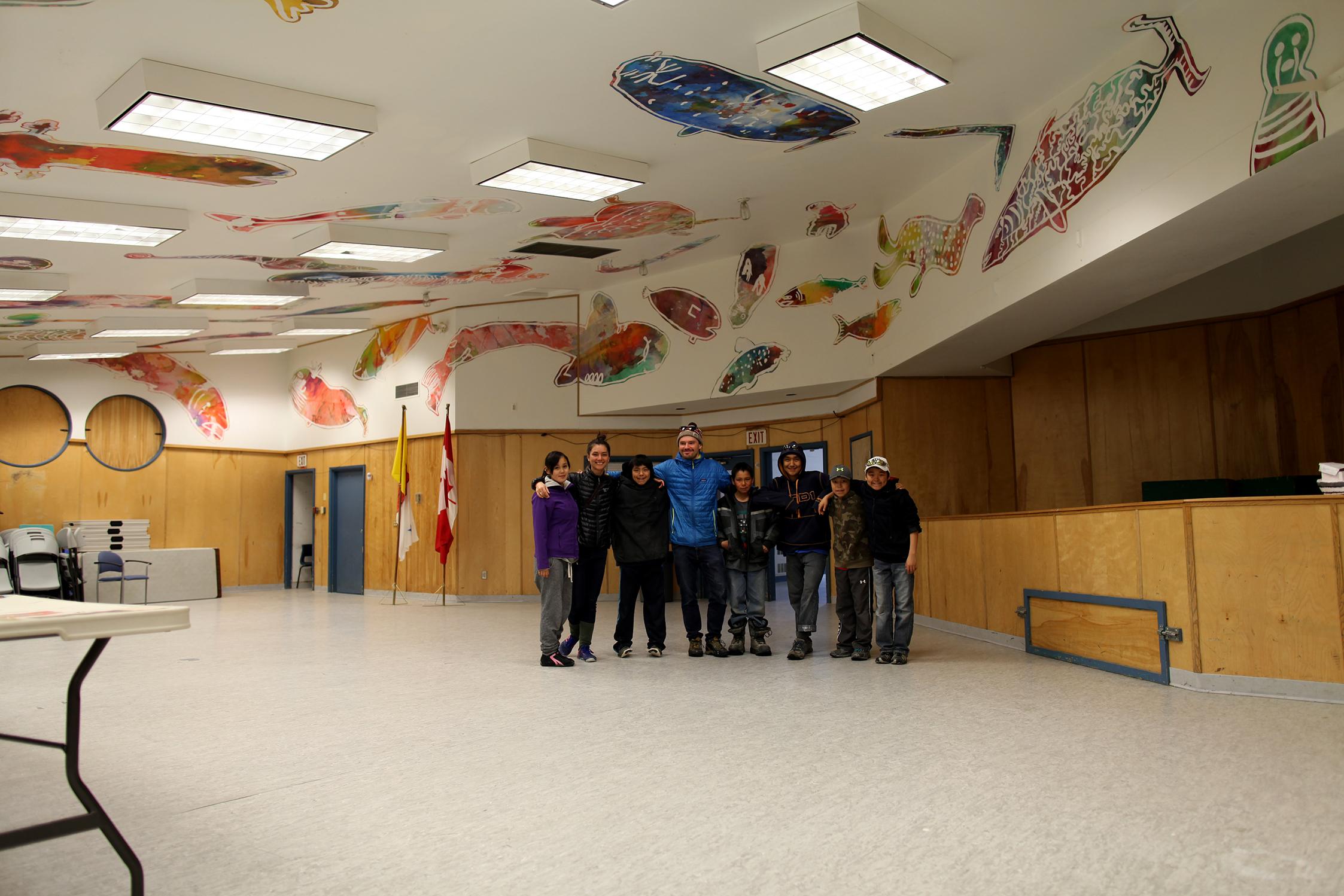 Elisapee, Alexa, Johnny, Patrick, Ezee, Cie, Saaki, Tommy: Facilitators and a few mural crew members
