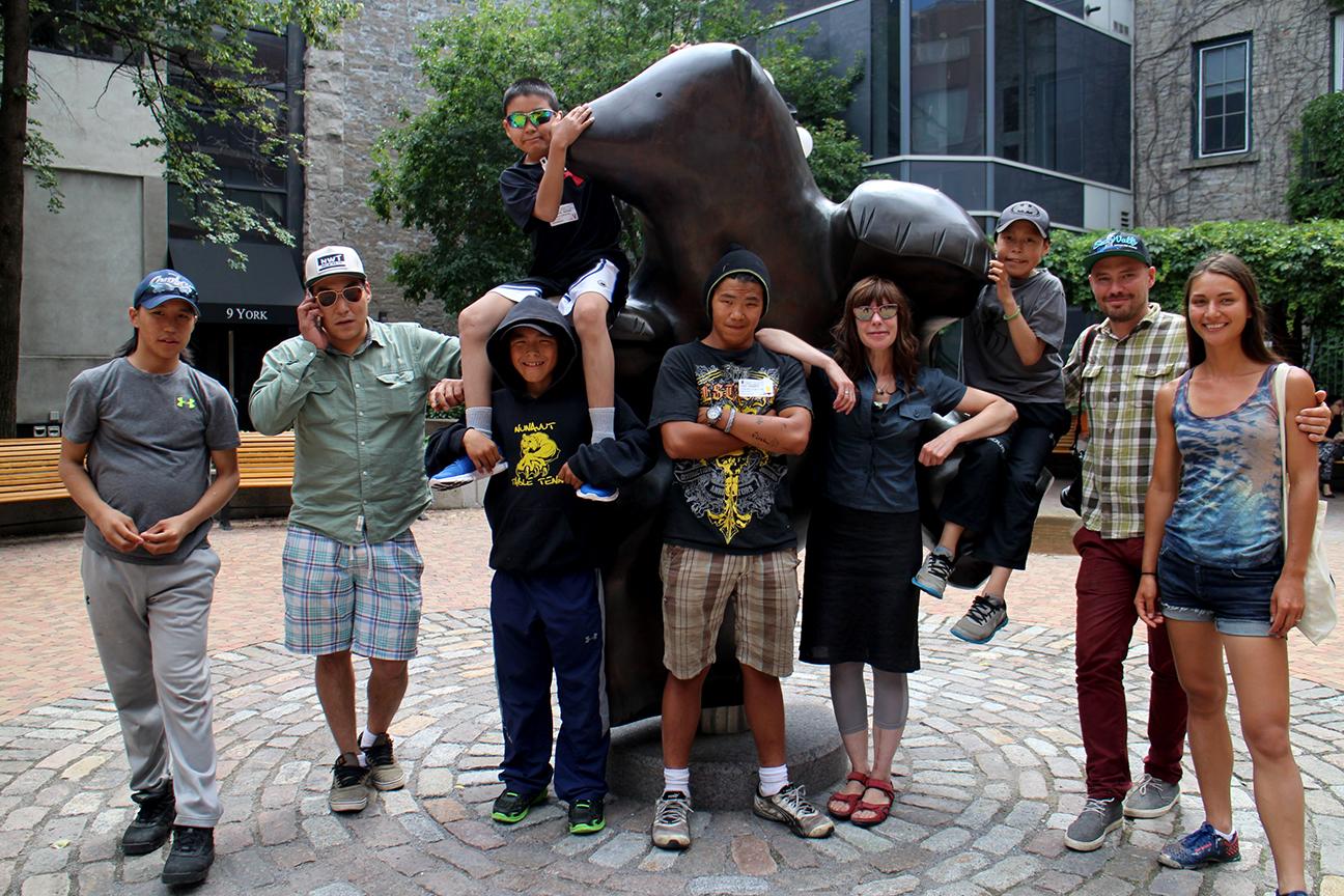 Visiting Pauta Saila's public sculpture, Ottawa