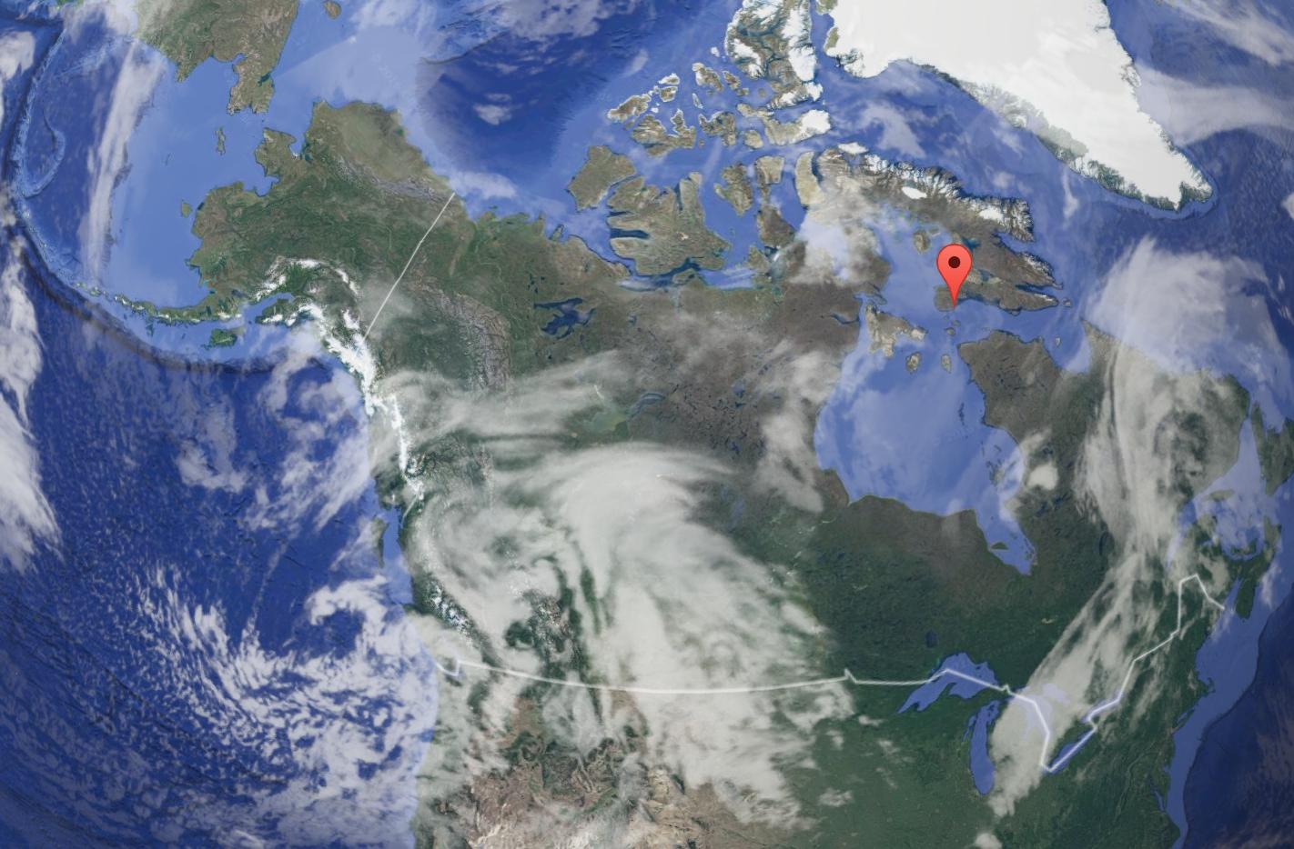 Cape Dorset, Nunavut, Canada. Image Courtesy of Google Maps