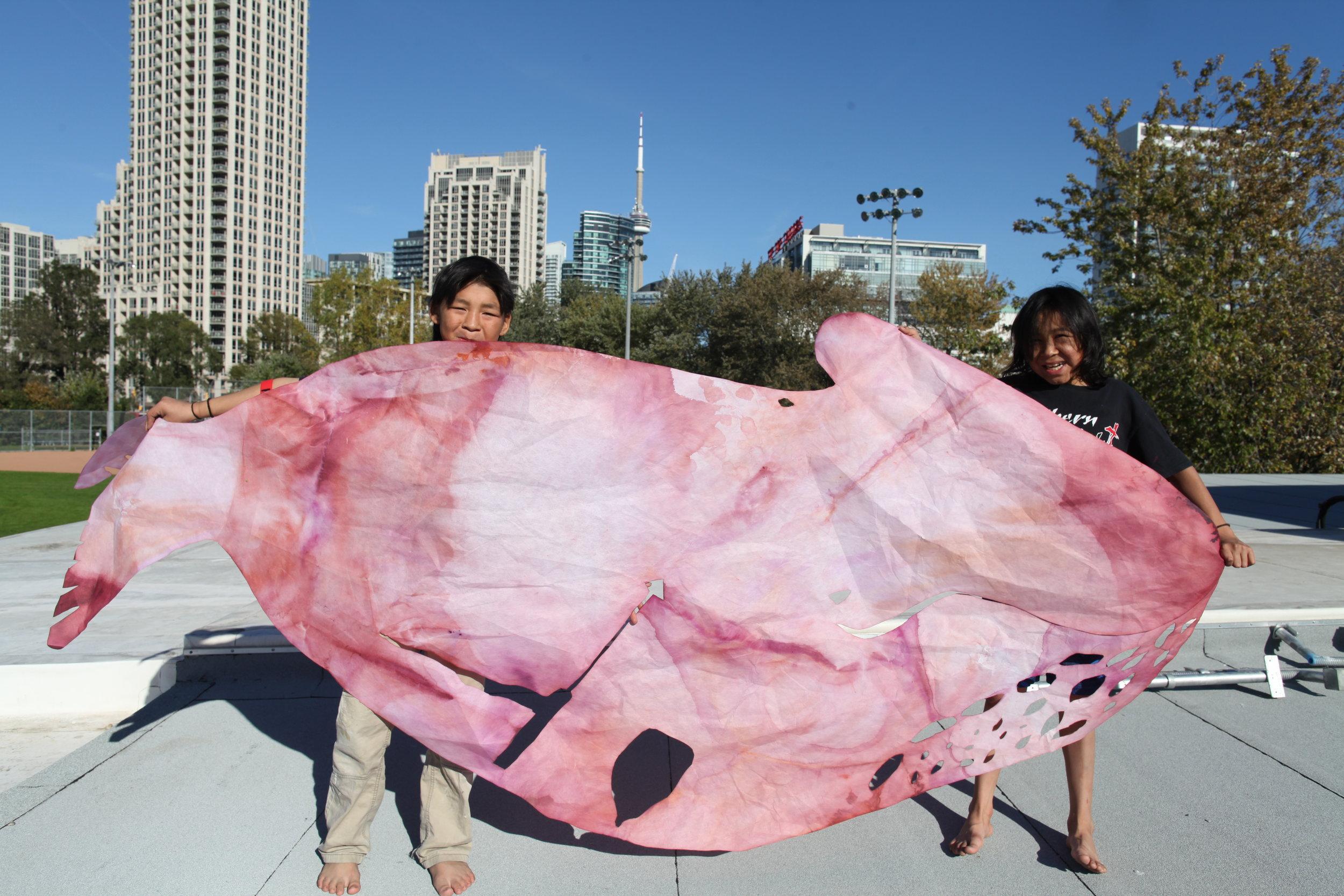 Whale by Taqialuk Pudlat, held by Iqaluk Quvianaqtuliaq and David Pudlat