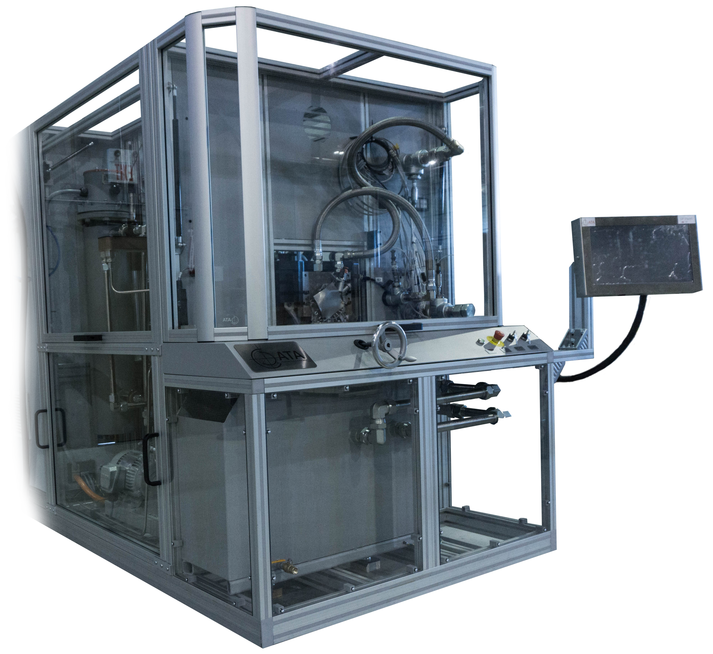 Fluid and Hydraulic Component Test Systems. Oil pumps, water pumps, coolant valves, etc.