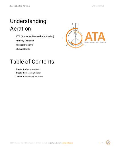 ATA Understanding Oil Aeration White Paper