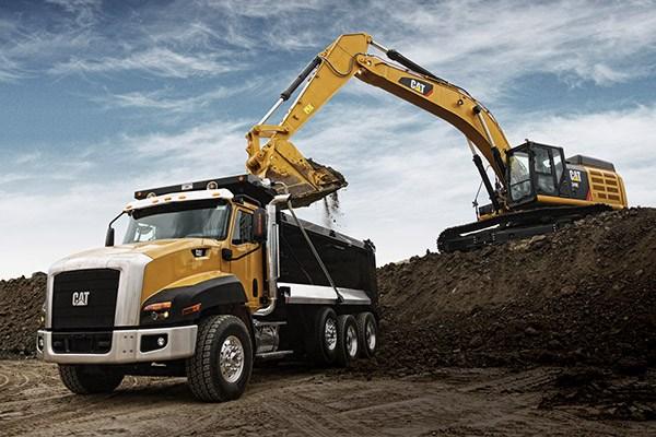 CAT vehicles - Caterpillar dump truck for off-highway construction