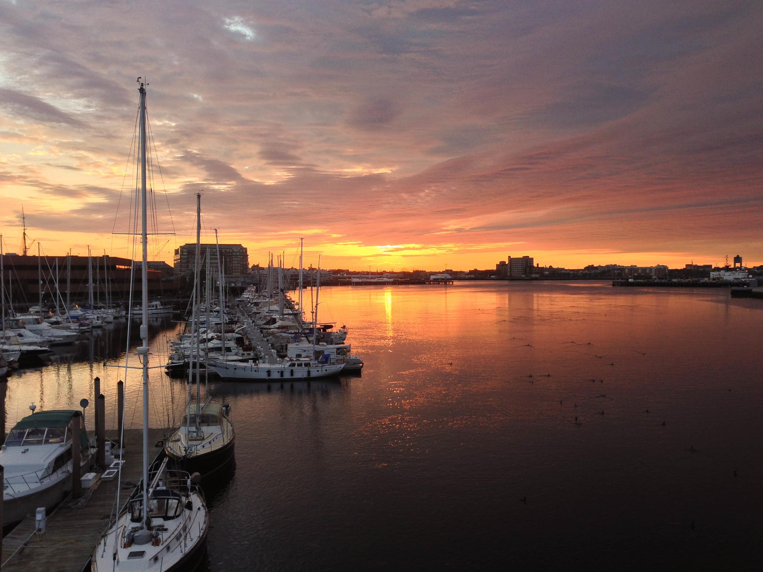 Boston Harbor, viewed from the North Washington Street bridge :: May 2014