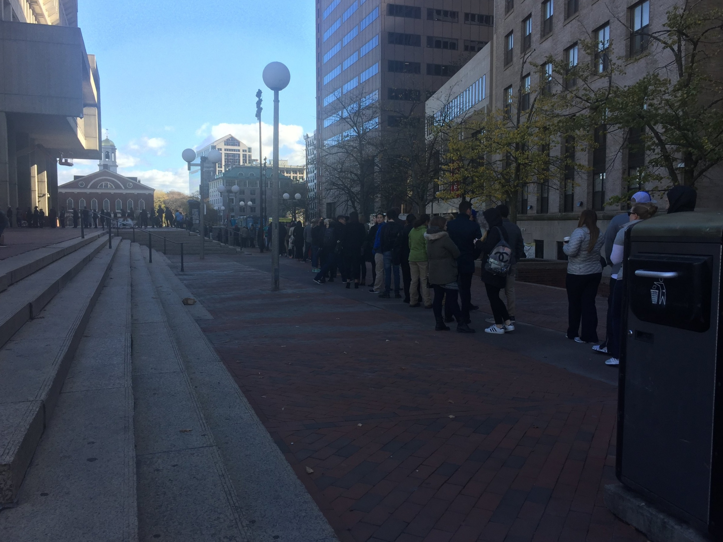waiting in line to vote, on the last day of early voting :: november 4, 2016