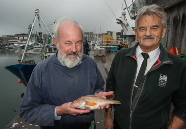 Doug Herdson and Harbour Master Pete Bromley