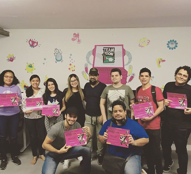 Felicidades! Graduación curso de animación Nivel 1.  Www.teamtoonstudio.com/escuela #escuelateamtoonstudio #Animacion #Animacion2D #Ilustracion #StayTooned #ToonBoomHarmony