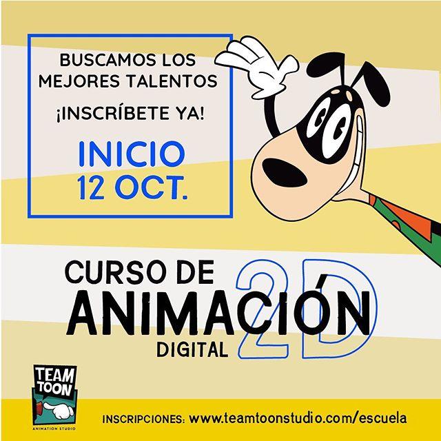 Quieres ser animador? Que esperas? SÉ PARTE DE NUESTRO EQUIPO! Inscríbete: www.teamtoonstudio.com/escuela . Te esperamos! #escuelateamtoonstudio #Animacion #Animacion2D #StayTooned #ToonBoomHarmony