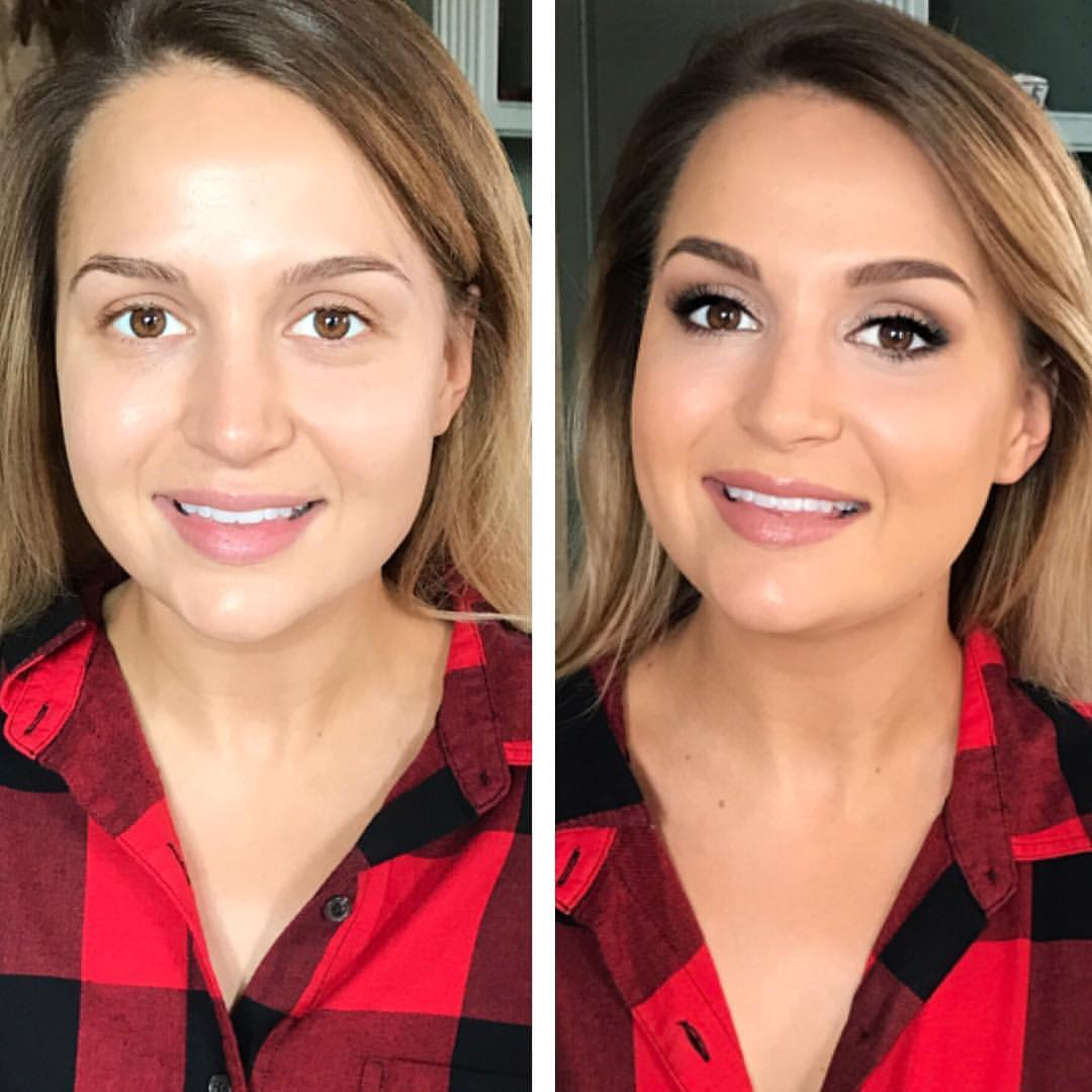 airbrush makeup before and after