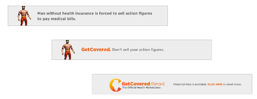 This is a screenshot of one of the Get Covered Illinois ads appearing on The Onion's website. Courtesy of Get Covered Illinois.
