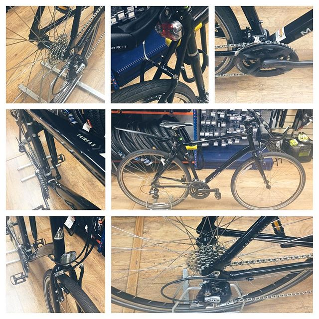Back in the #Tooting workshop today & we've knocked out this Platinum service today. This is our top level service and sees us dismantle the whole cycle replacing anything that's run its race and returning the cycle to the client better than new. Difficult in this case as we supplied the bike in the first place! All back together again looking and riding sweet. #Marin #cytech