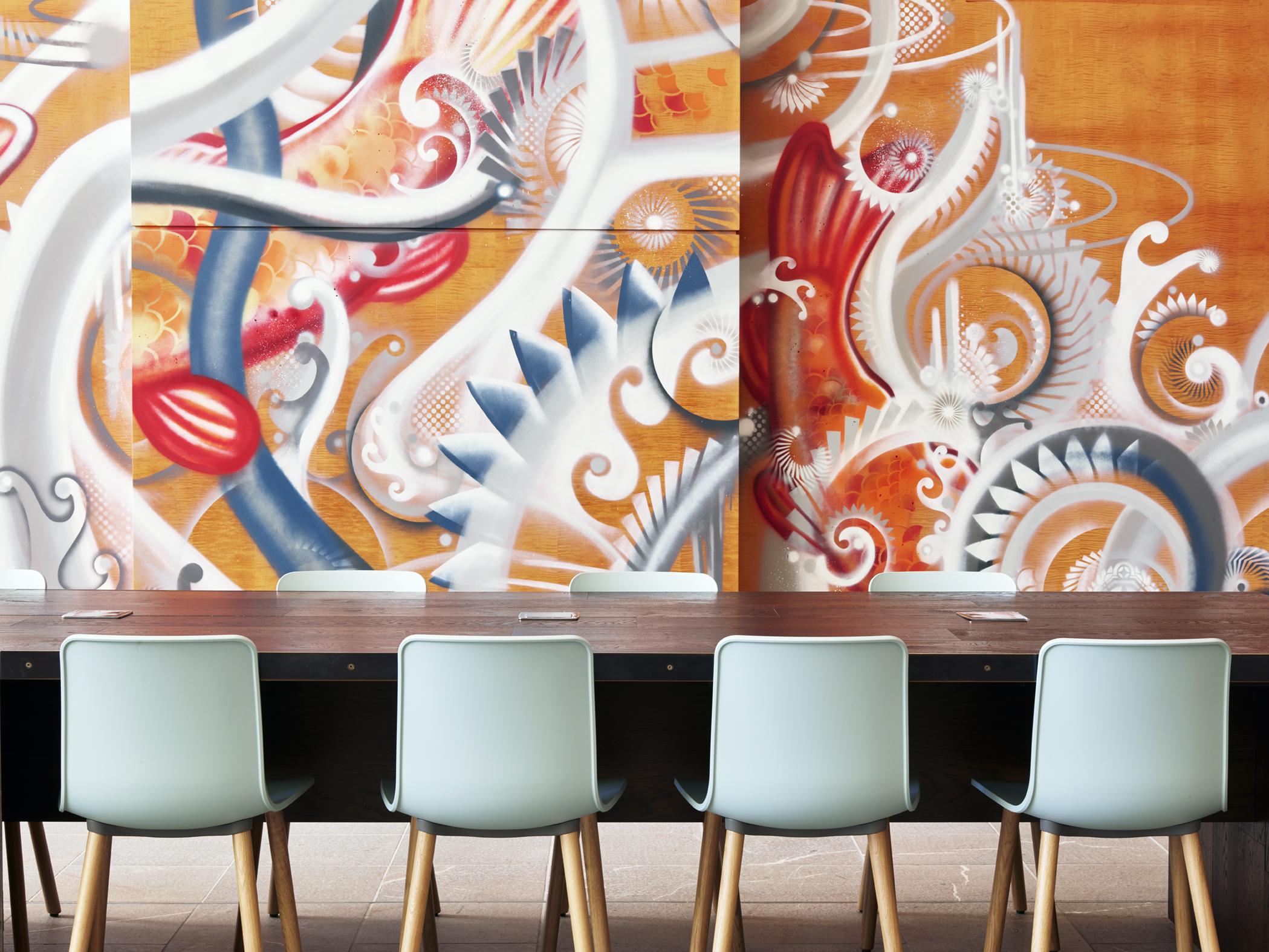 wall mural - key center