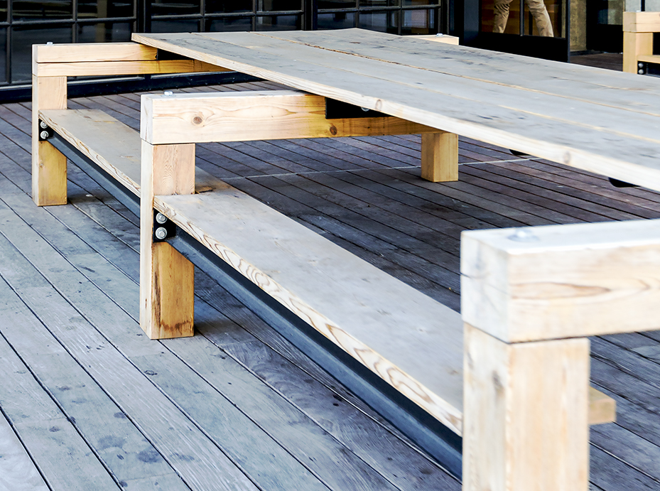 outdoor benches - 400 fairview