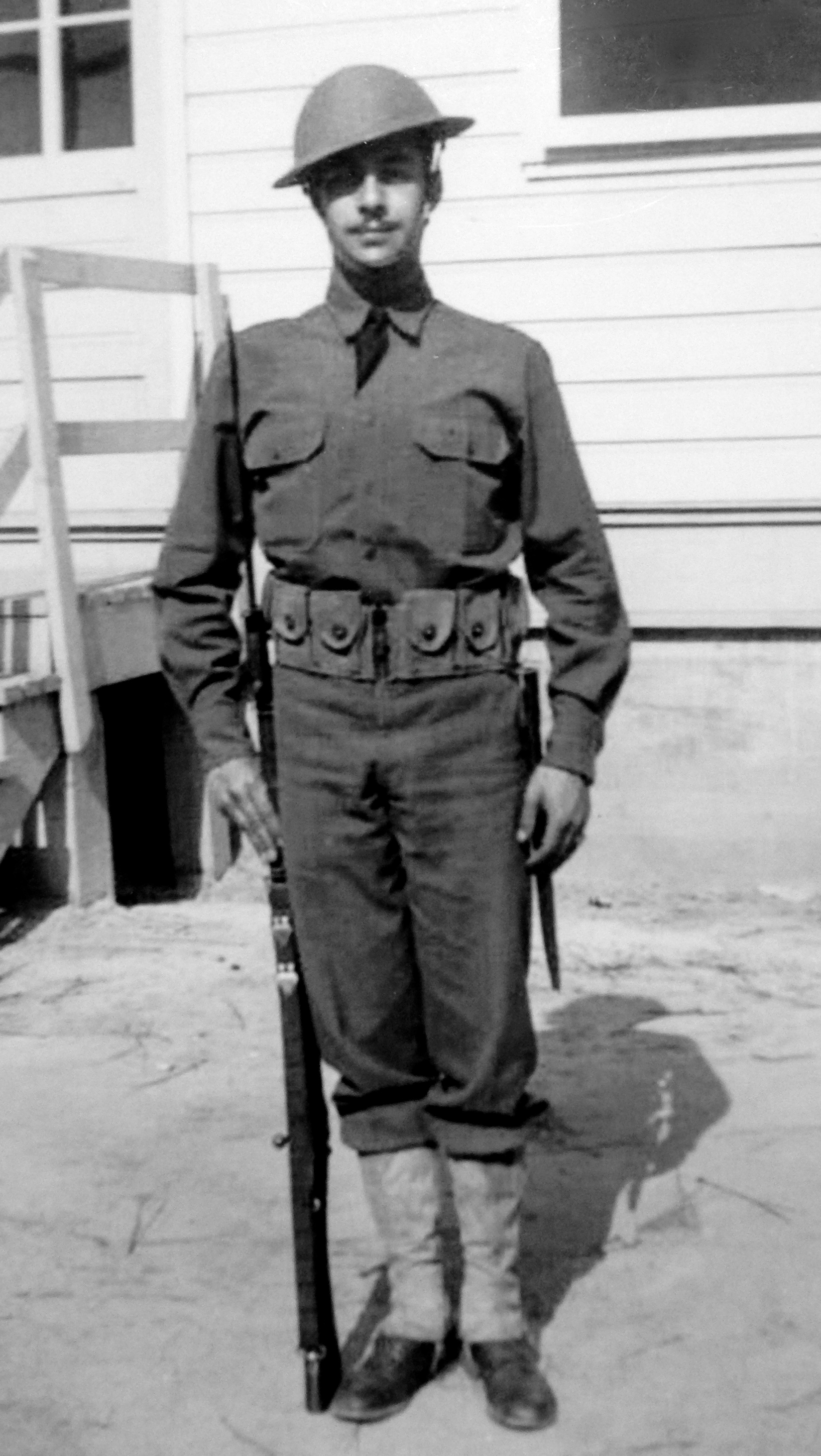 In Uniform at Fort Bragg - 1942