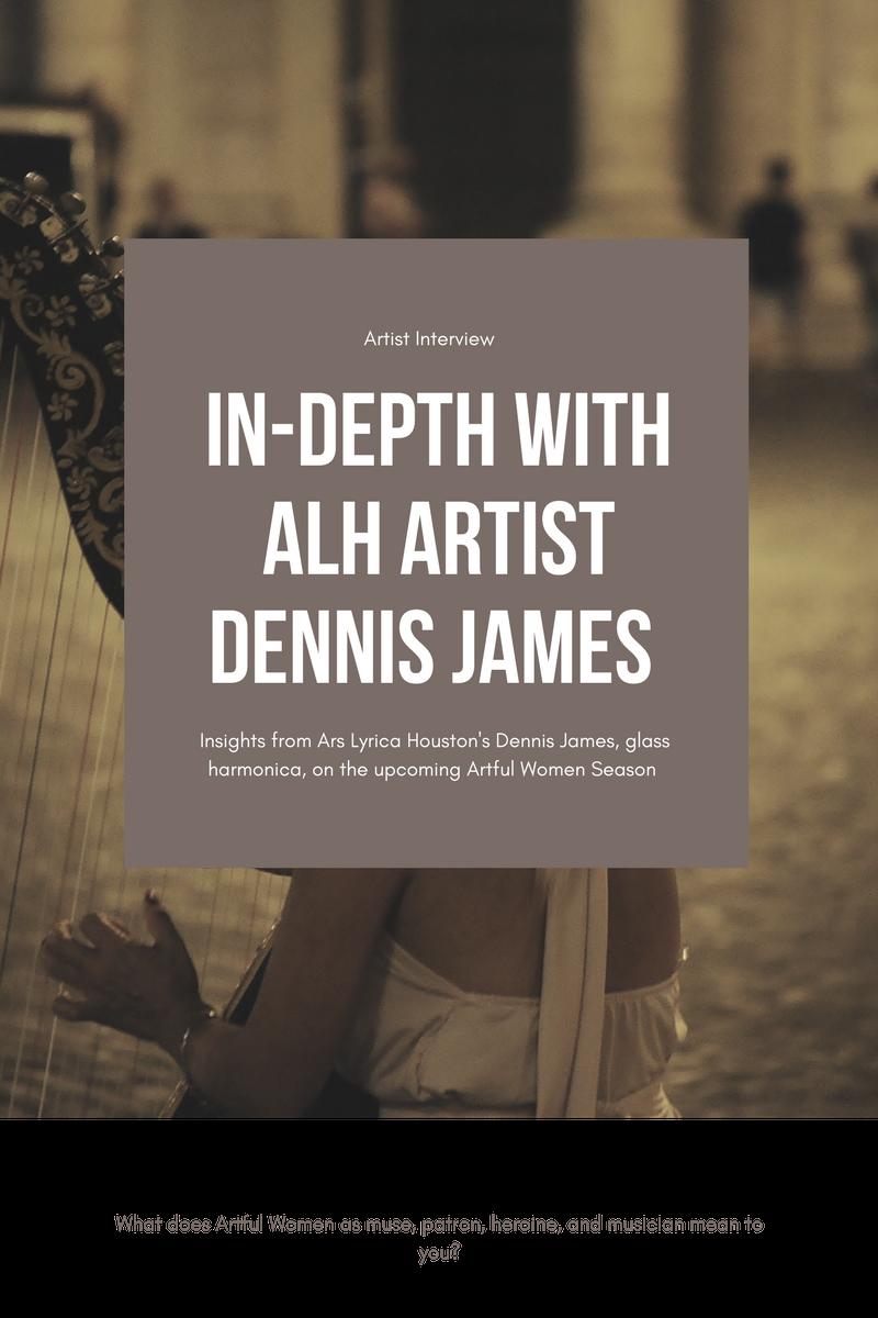 Artist Dennis James, glass harmonica