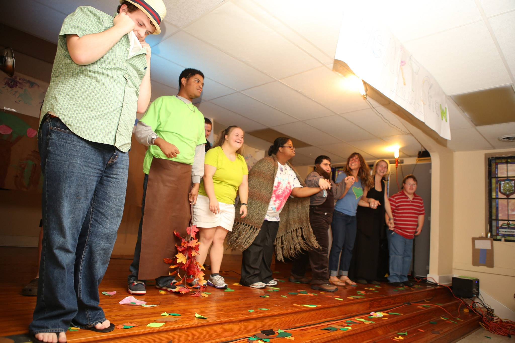SESSION TWO: THEATRE   Actress, Tara Sweeney along with other volunteers helped HEART participants produce a playadaption of The Giving Tree.