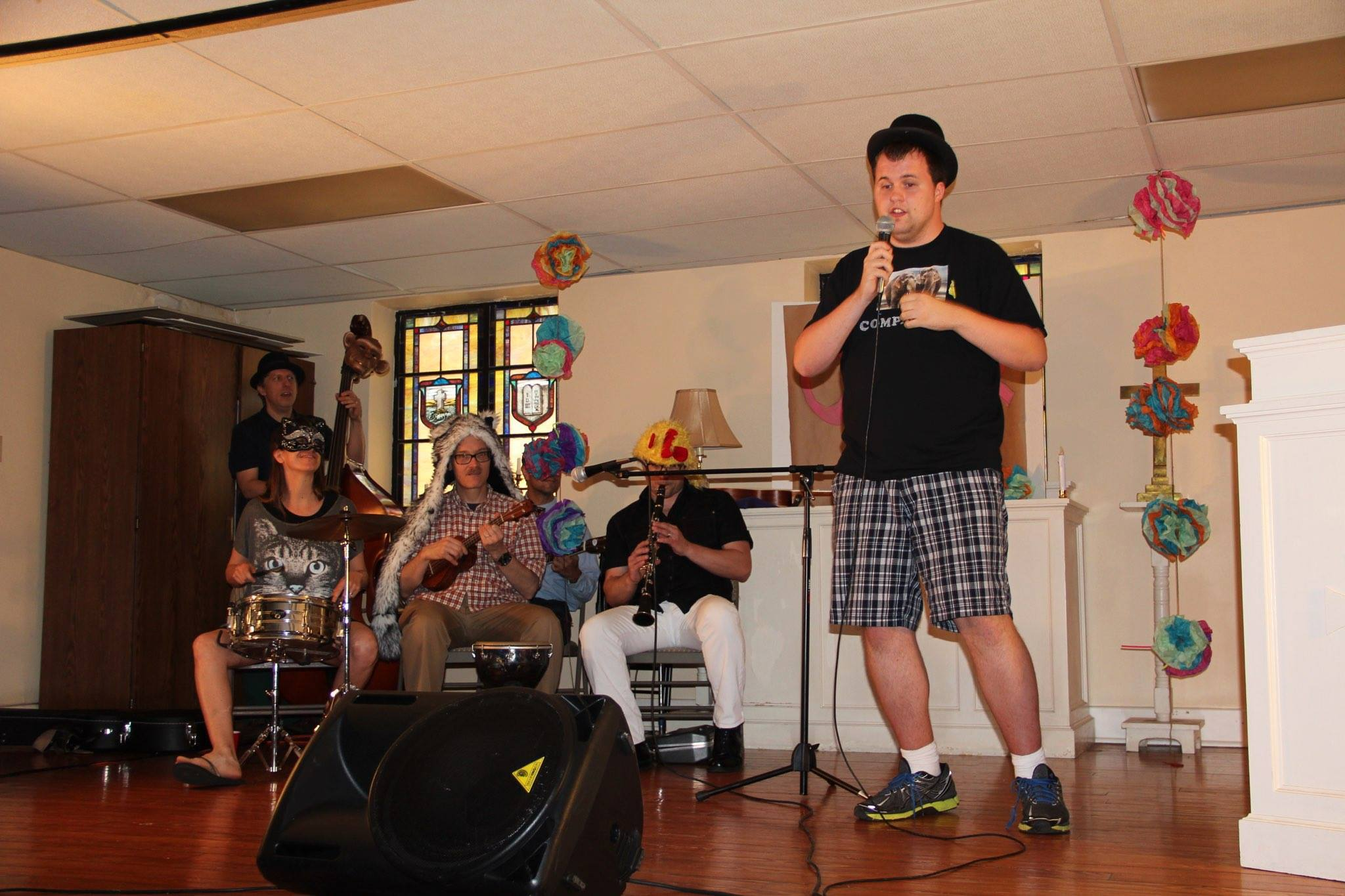 SESSION FIVE: LIVE BAND     The V-Tones   volunteered by playing music for the HEART participants and playing backup band to theirsinging!