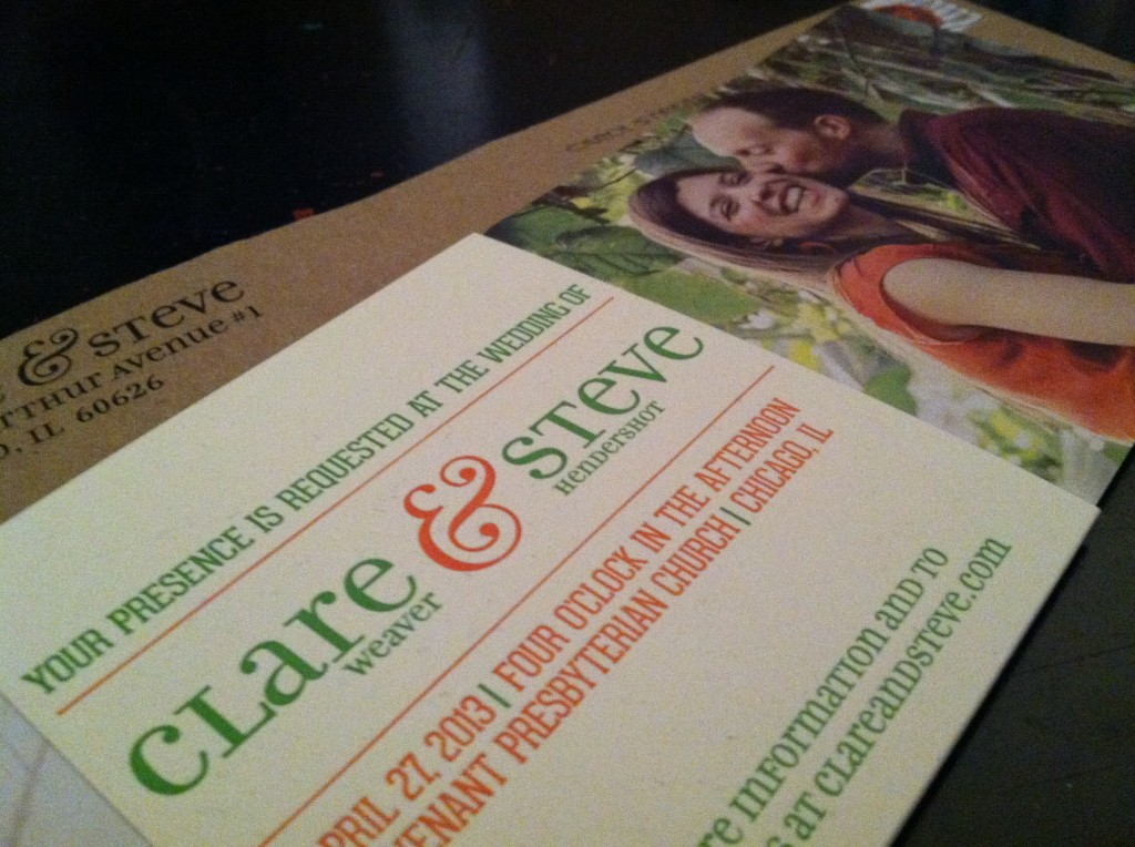 Clare and Steve  | Wedding Invitation
