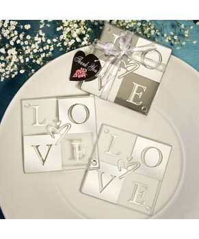 Love Shines Through Coaster Set Favors